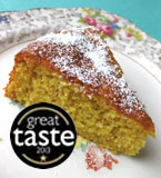 This moist Tunisian Orange & Almond Cake is a Great Taste Award winner. Made with organic ground almonds, oranges and extra-virgin olive oil. Made with 100% gluten-free and dairy-free ingredients