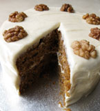 Gluten-free, lactose-free carrot cake. Made with egg free, gluten free, dairy free ingredients. Delivery in London