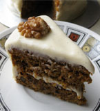 Gluten-free, vegan carrot cake. Made with egg free, gluten free, dairy free ingredients. Delivery in London