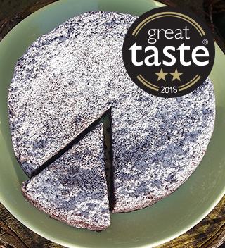 Awarded 2 stars at the 2018 Great Taste Awards, this gluten-free and dairy-free chocolate cake is deliciously fudgy. All ingredients gluten free and dairy free. Nut free also available