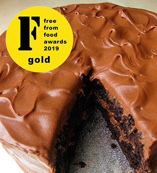A Gold medal winner at the FreeFrom Food Awards 2019 – my gluten-free vegan Mocha Chocolate Cake. Made with egg free, gluten free, dairy free ingredients. Delivery in London. Click on the picture to find out about my other vegan cakes