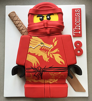 Gluten-free Ninjago Cake, made with organic, glutenfree ingredients. Delivery in London