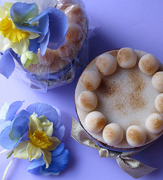 Glutenfree Simnel Cake for Mother's Day & Easter – a zesty cake made with organic fruit steamed in apple juice. Topped with organic marzipan