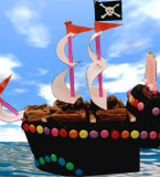 Gluten-free Pirate Ship Children's Birthday cake. Delivery in London